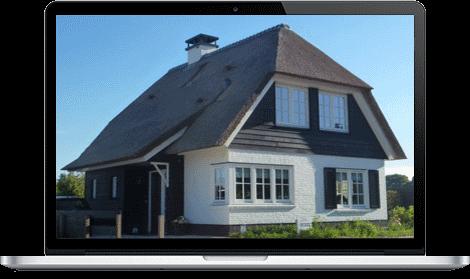 Rieten dak klassieke architectuur